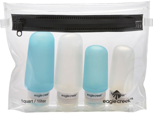 Eagle Creek Silicone Bottle Set clear/aqua